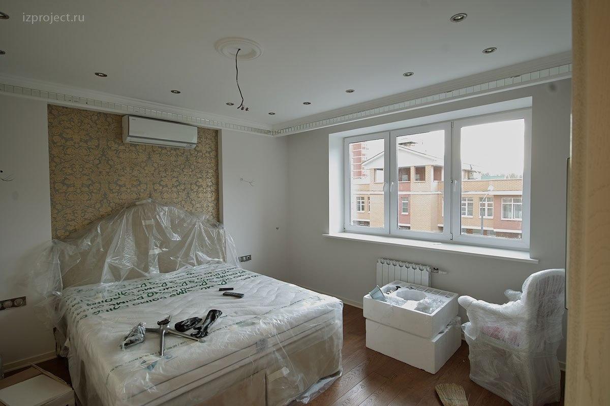 Дизайн однокомнатной квартиры, фото спальни.
