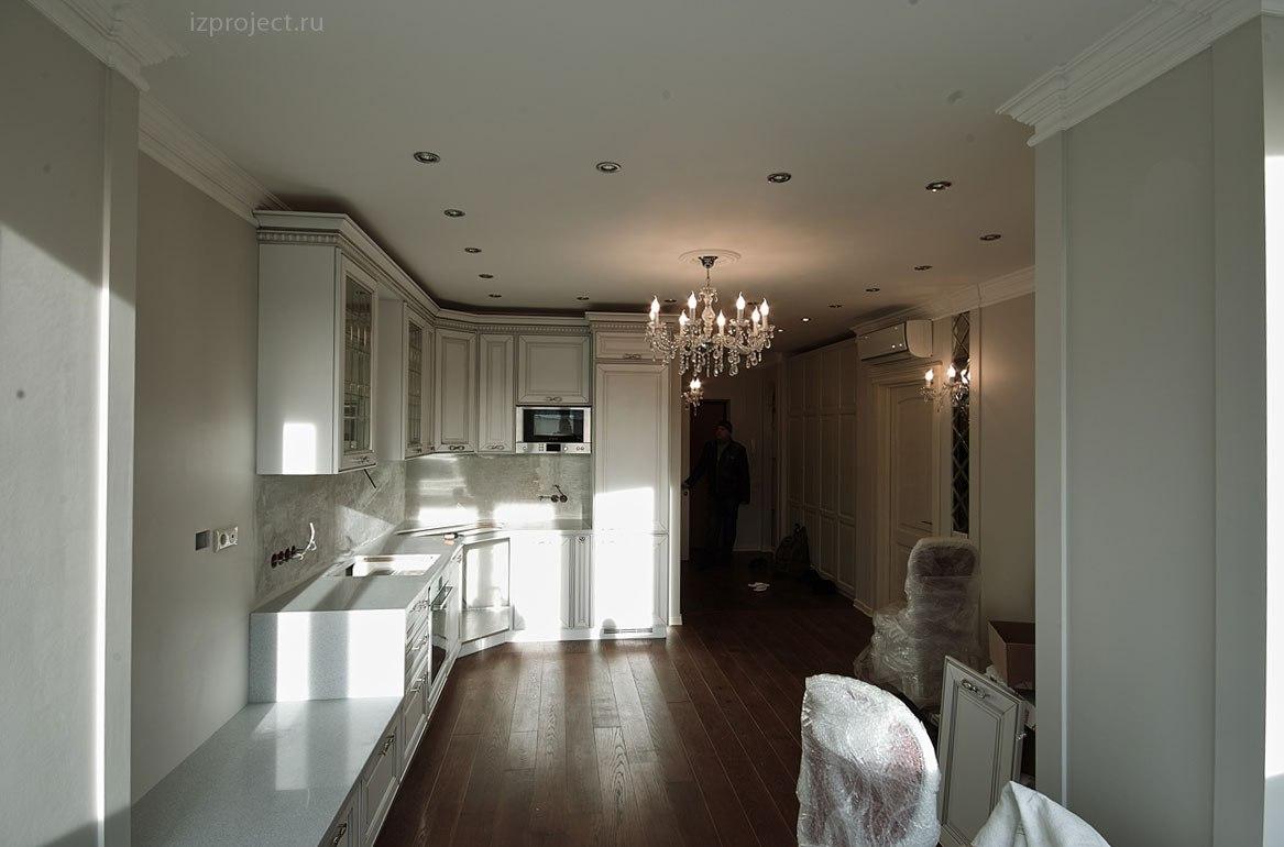 Дизайн однокомнатной квартиры, фото гостиной.