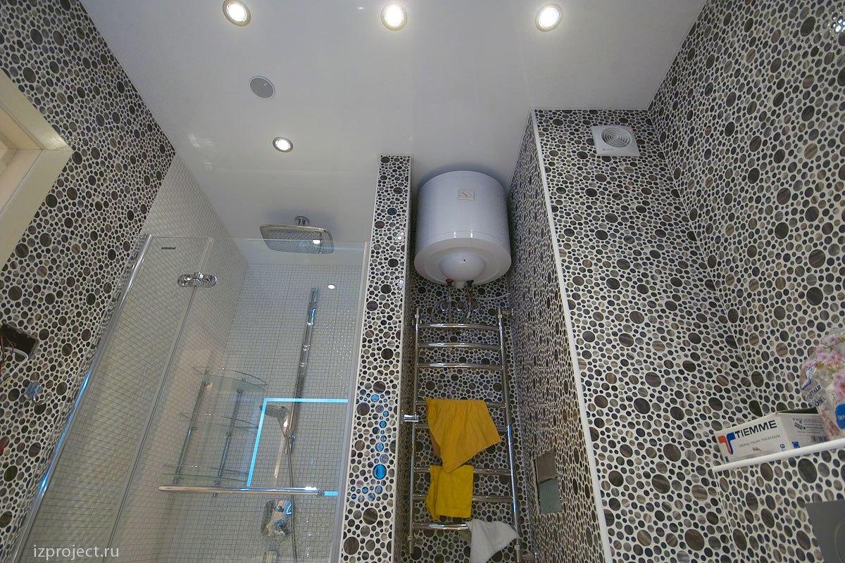 Дизайн однокомнатной квартиры, фото ванной.