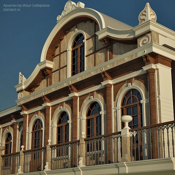 Дизайн фасадов в стиле эклектика