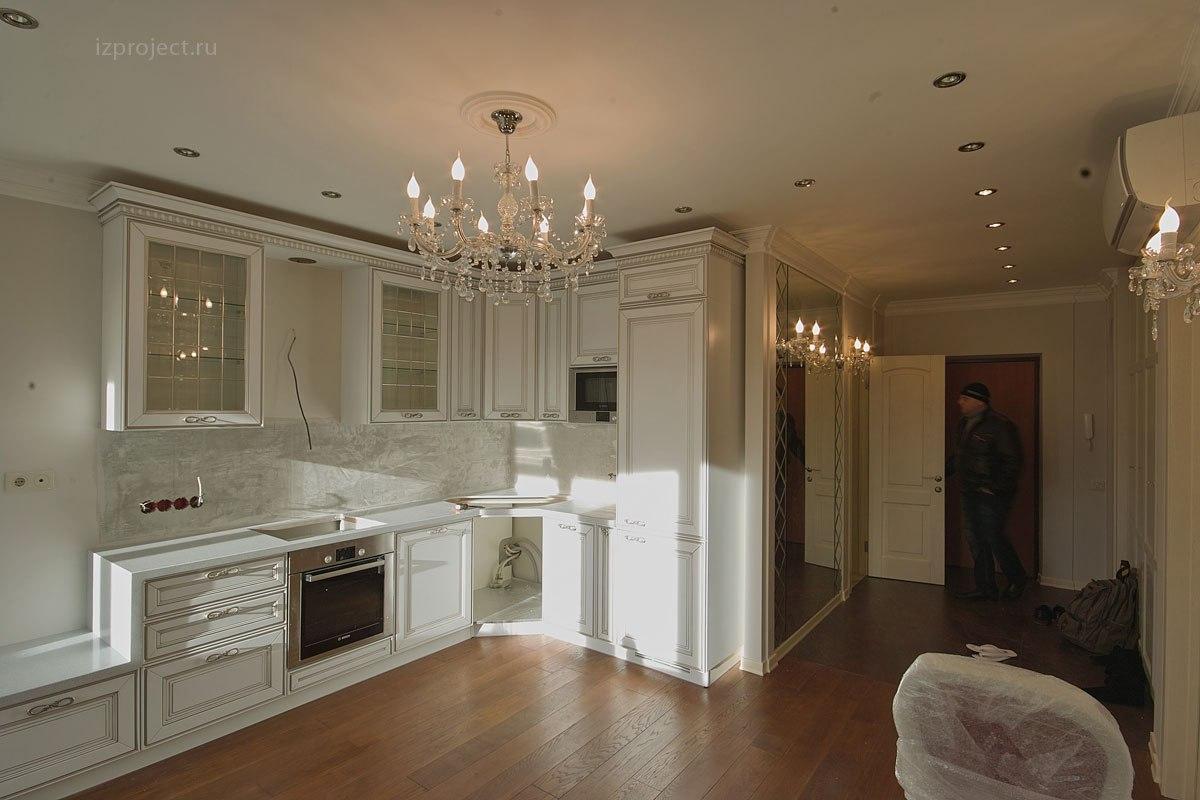 Дизайн однокомнатной квартиры, фото кухни.