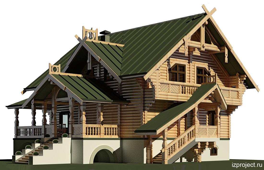 дома в русском стиле проекты