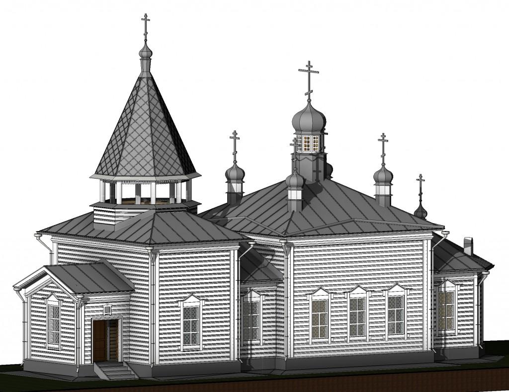 Проект реставрации Храма Апостола Фомы в деревне Красный Бор Ленинградский области.