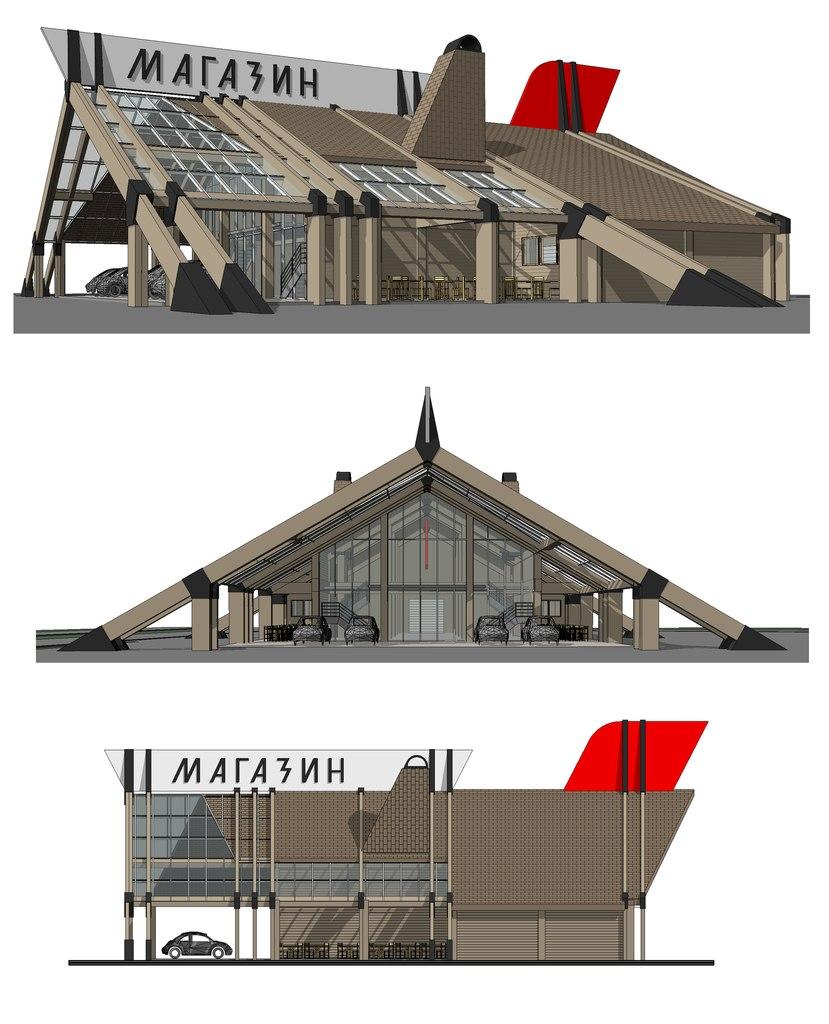 Проект торгового центра.