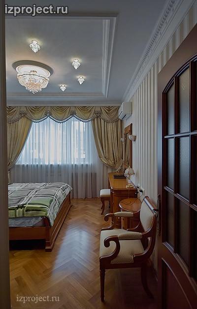 Фото спальни в классическом стиле.