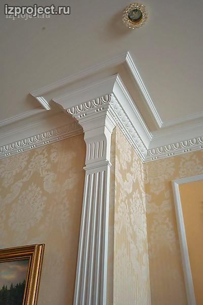 Фото декора гостиной в классическом стиле.