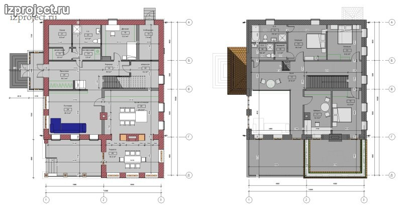 Проект дома из пеноблоков 250 кв.м.