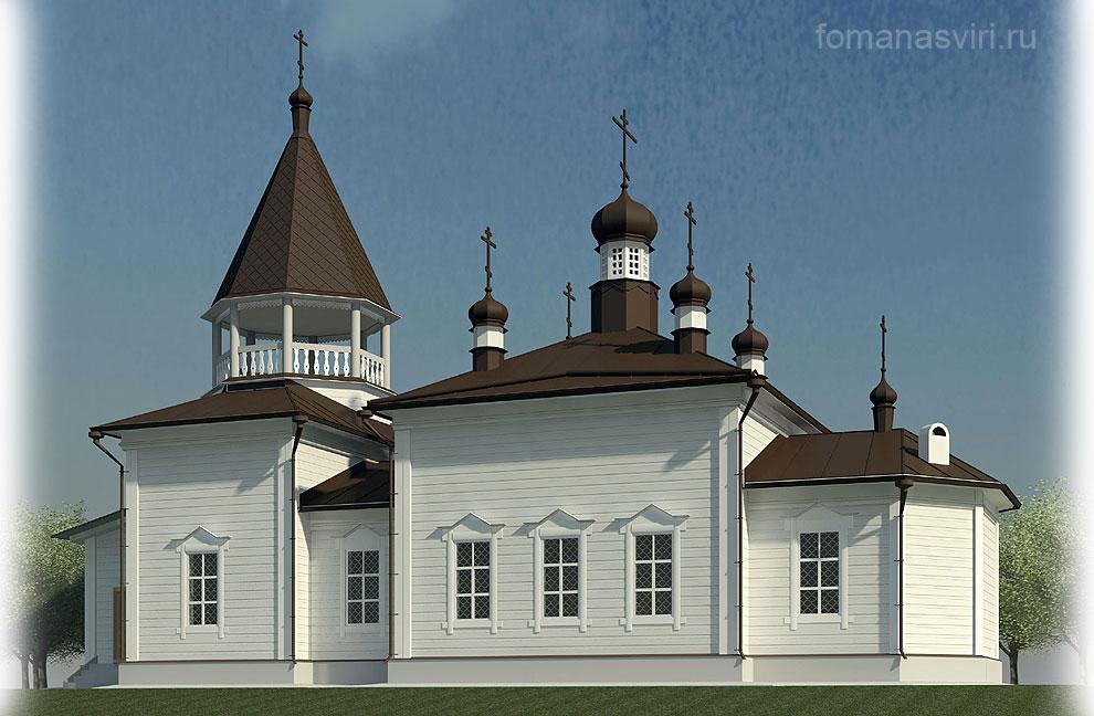 Реставрация храма Апостола Фомы на Свири.