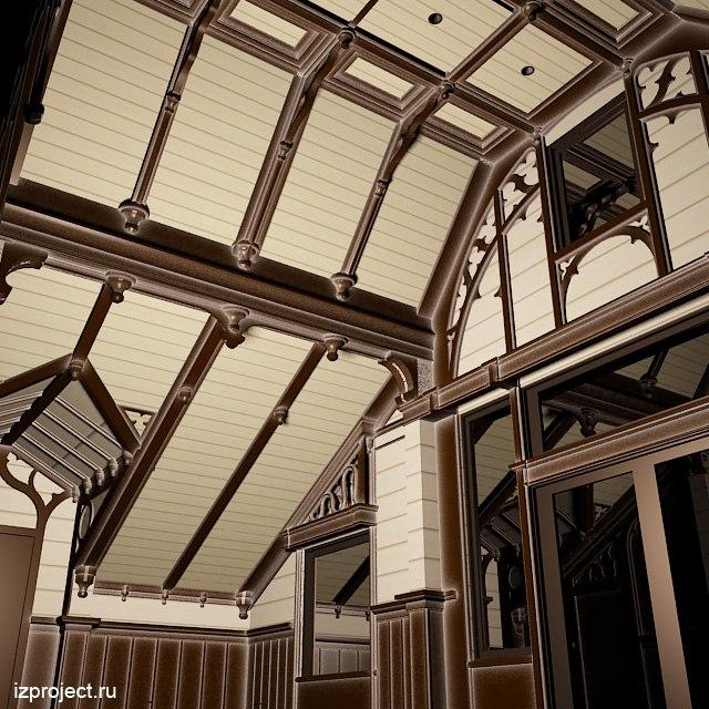 Интерьер спальни в готическом стиле