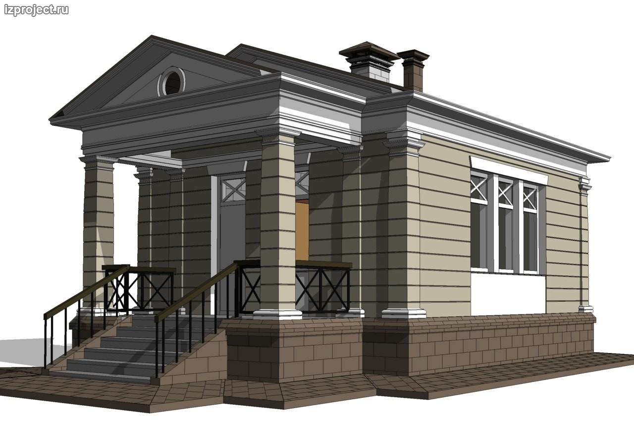 Проект бани в классическом стиле