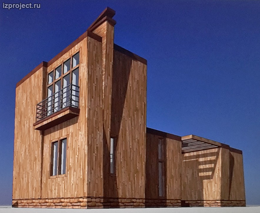 Концепция креативного решения фасадов дома 81 кв.м.