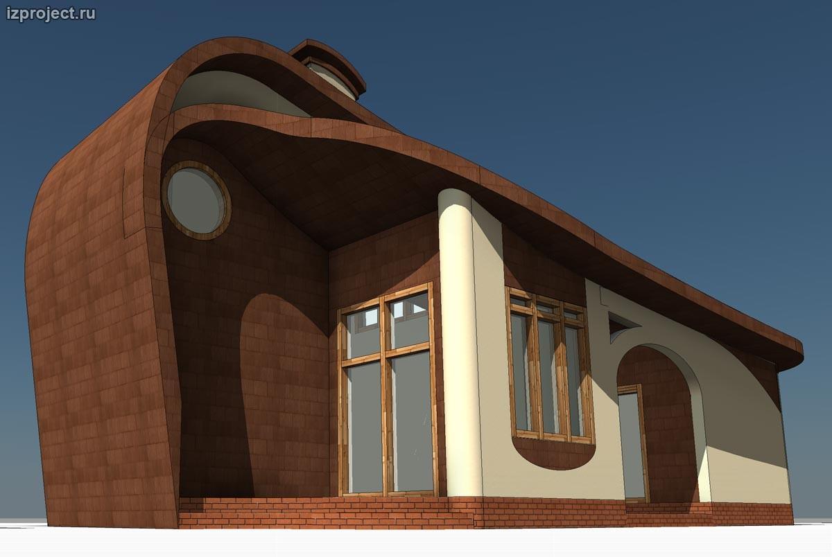 Концепция креативного решения фасадов дома 54 кв.м.