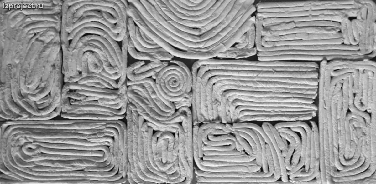 фактуры стен из мешков с землей.