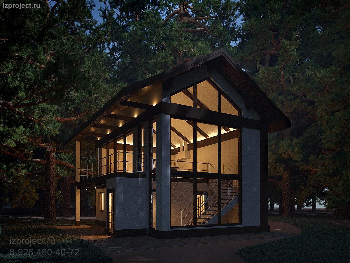 Проект небольшого дома в современном стиле