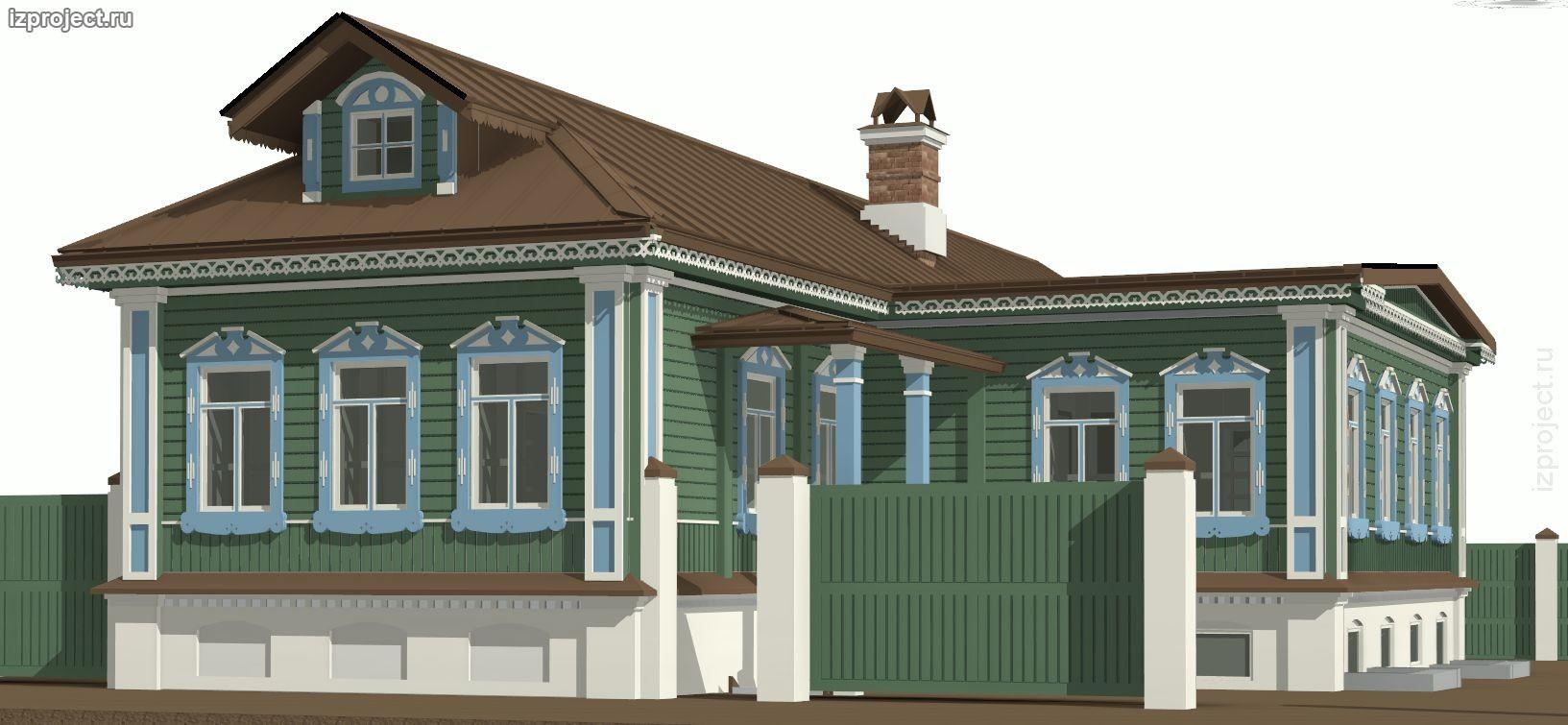 Проект жилого дома в суздальском стиле